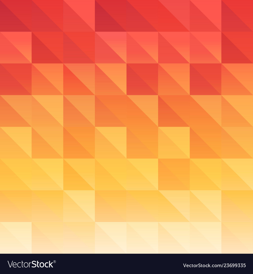 Triangle background red orange saturated color