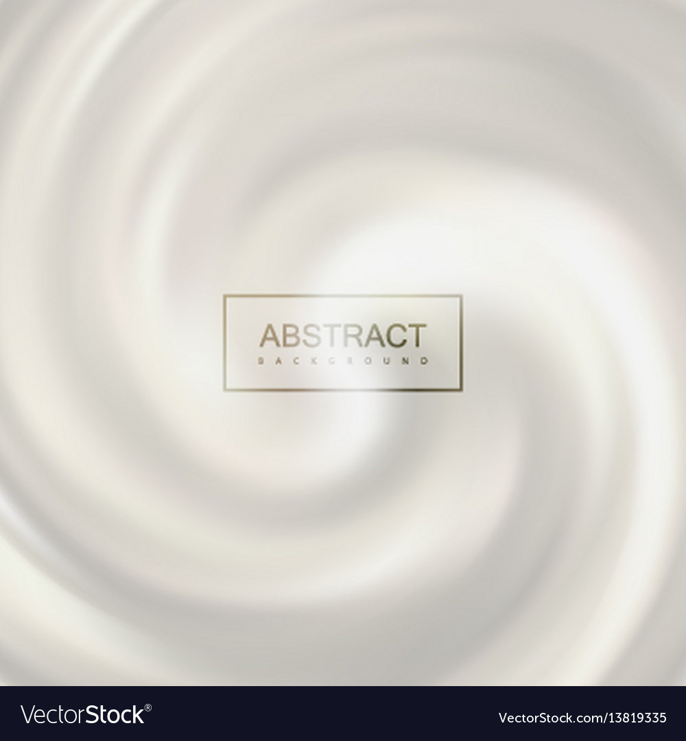 White swirling milk whirlpool vector image