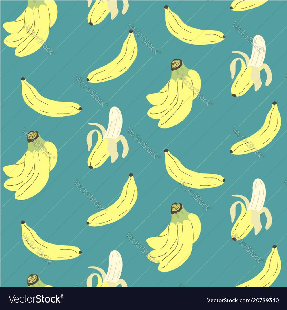 Cute seamless pattern with banana print
