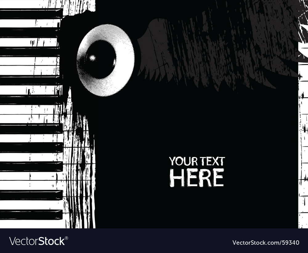 Dirty piano keys and speaker vector image