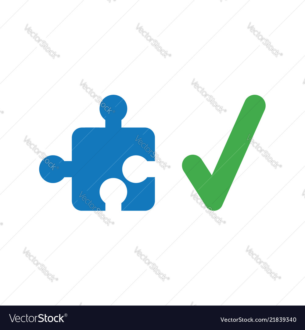 Icon concept of missing jigsaw puzzle piece with