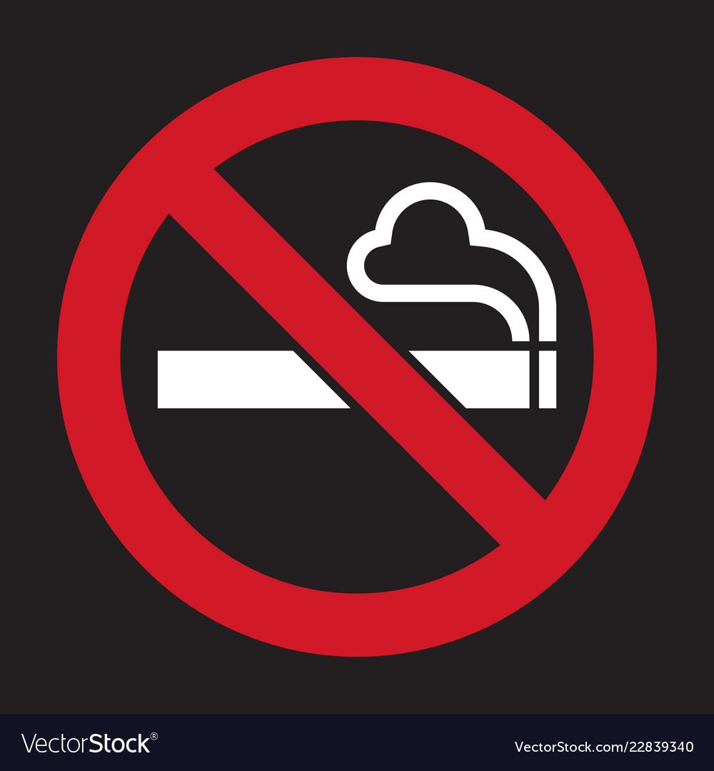 You No smoking sign vector agree