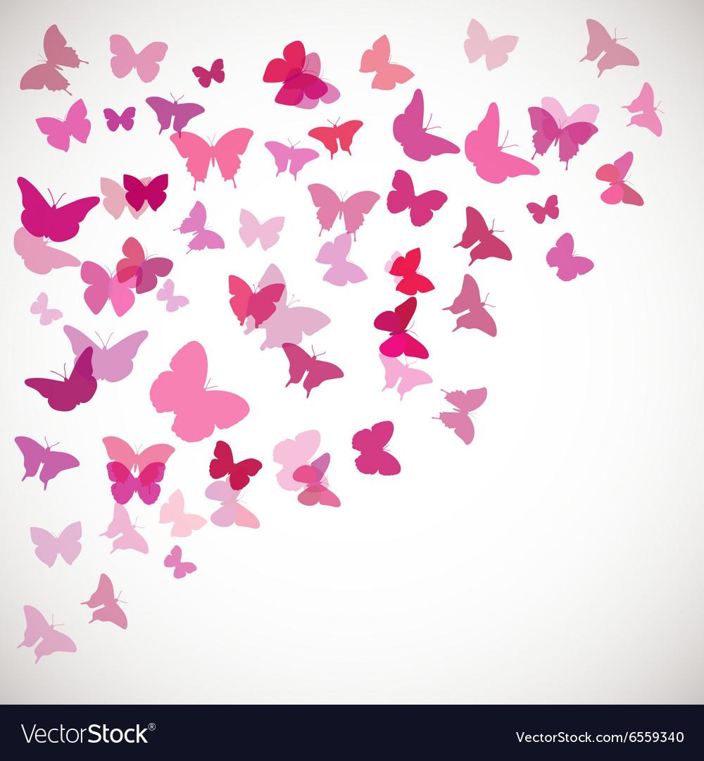 Pink butterflies Corner