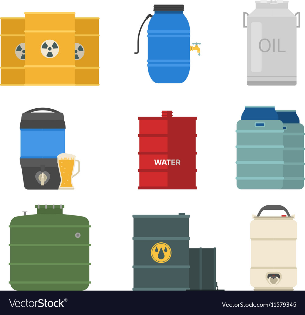 Barrel capacity tanks set