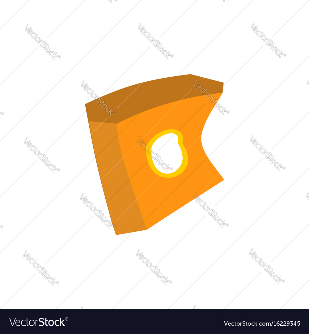 Paper box of french fries crushed garbage vector image