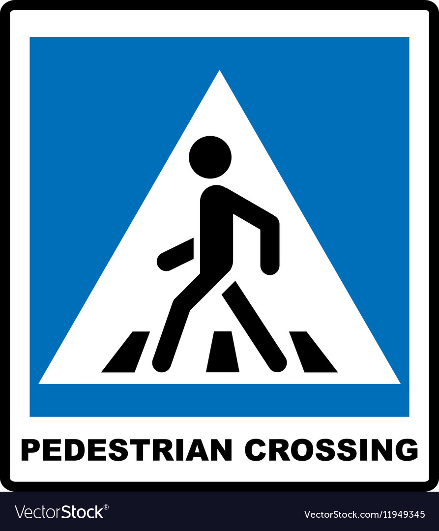 Pedestrian Symbol isolated on