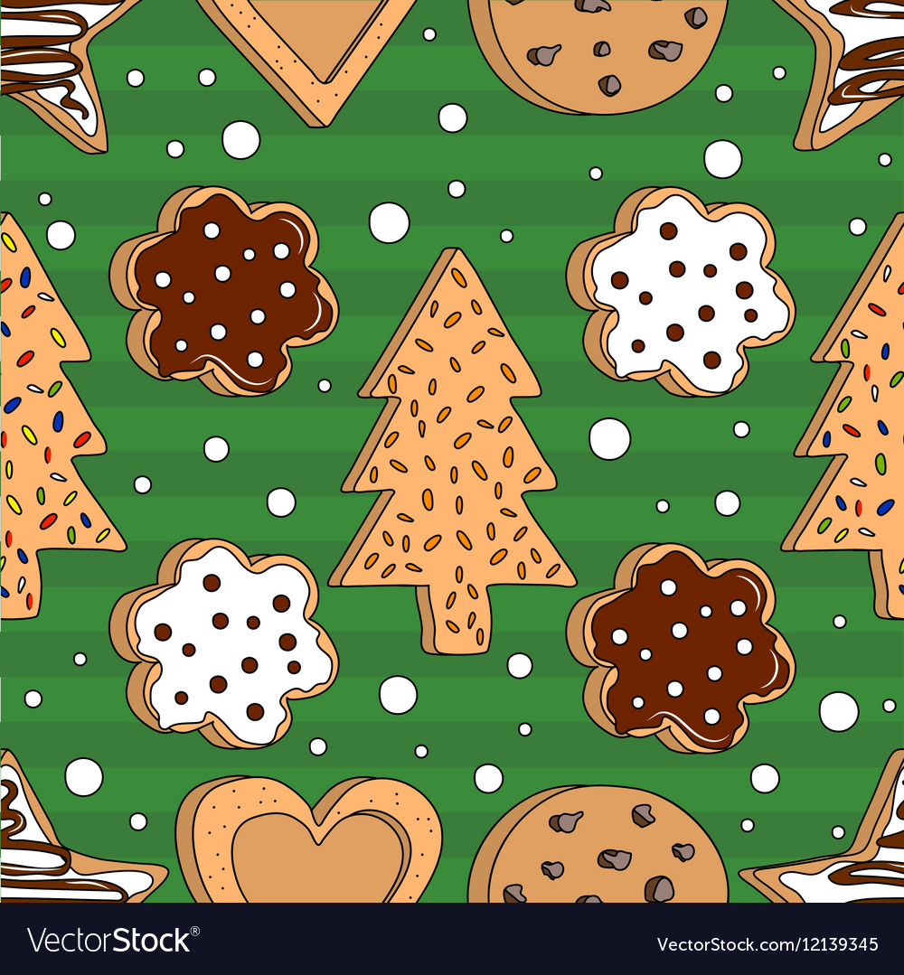 Seamless pattern with cookies