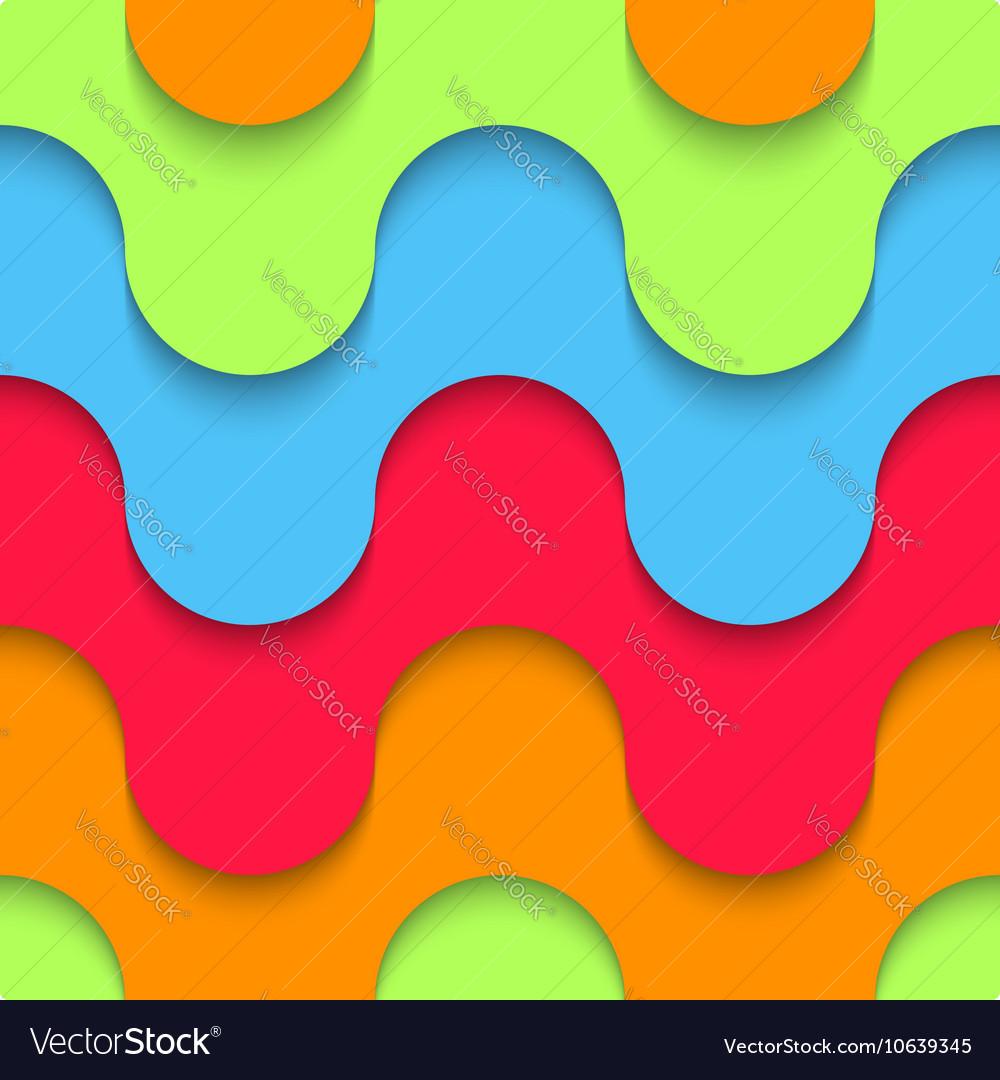 Wavy seamless pattern multilayer plastic