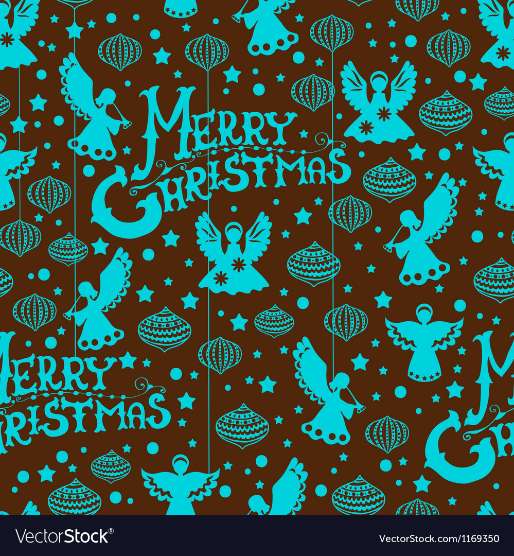 Angels Christmas Background.Christmas Seamless Background With Angels