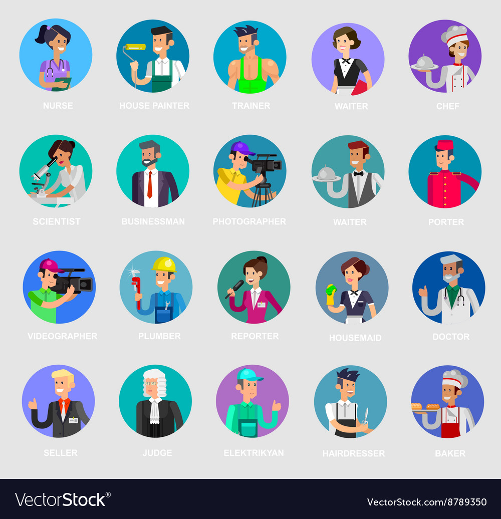 Profession people Detailed character