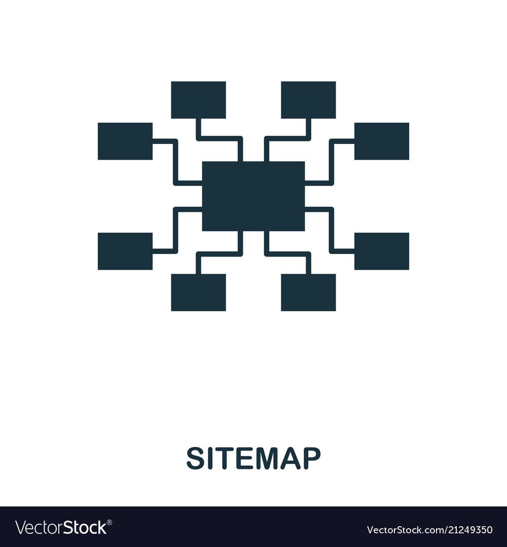 Sitemap icon line style icon design ui