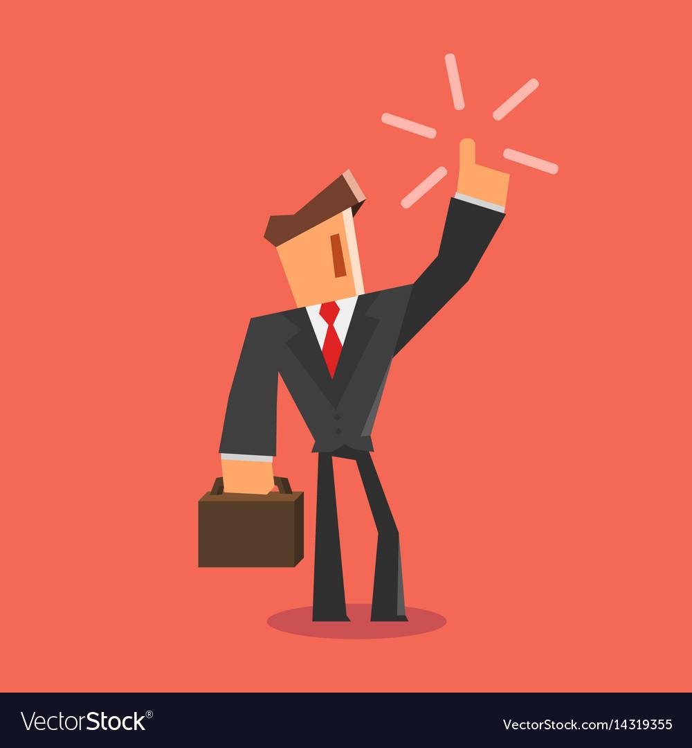 Businessman get an idea flat style vector image