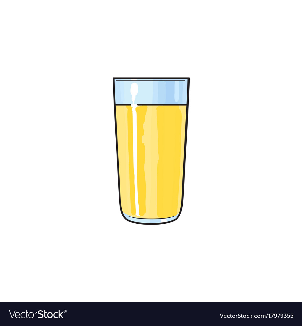 cartoon glass cup of lemon fruit juice royalty free vector
