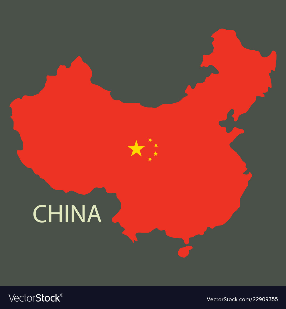 Flag map of republic of china