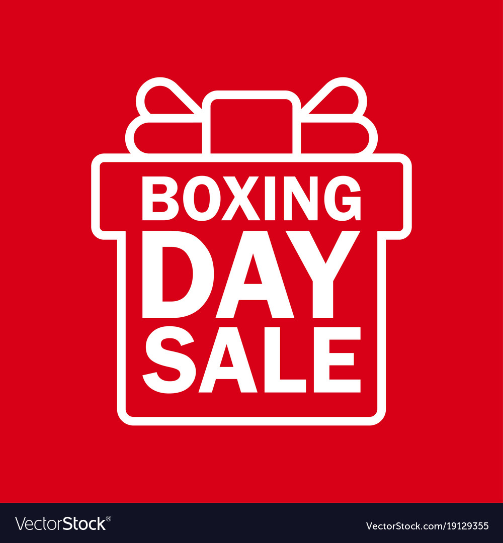 Happy Boxing Day Sale Royalty Free Vector Image