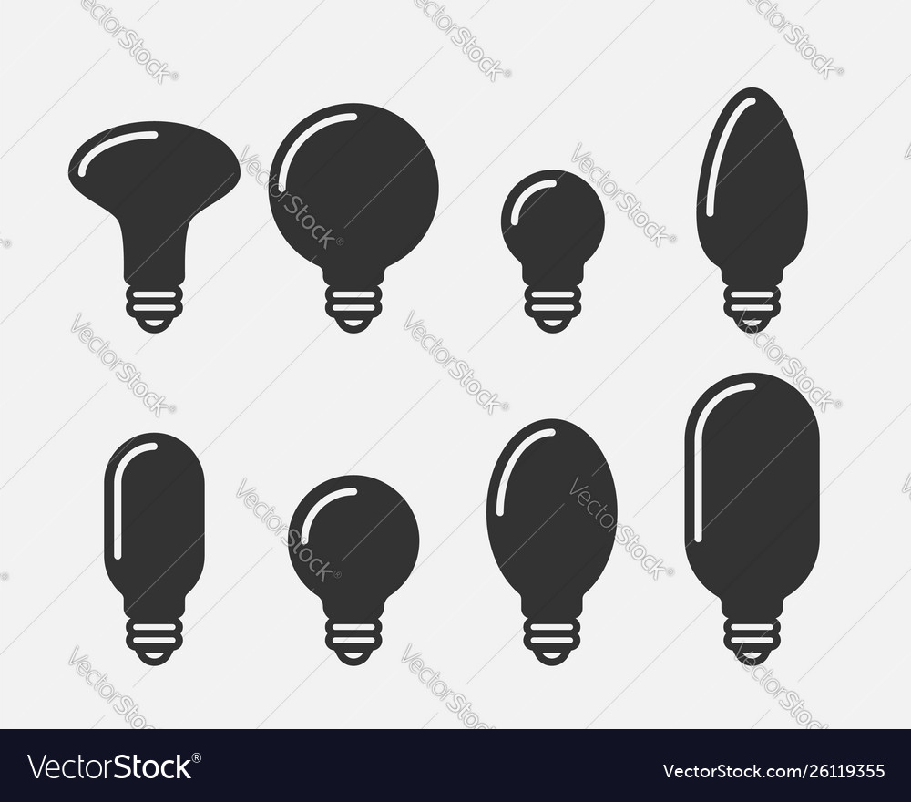 Light bulb icon llightbulb idea logo concept set