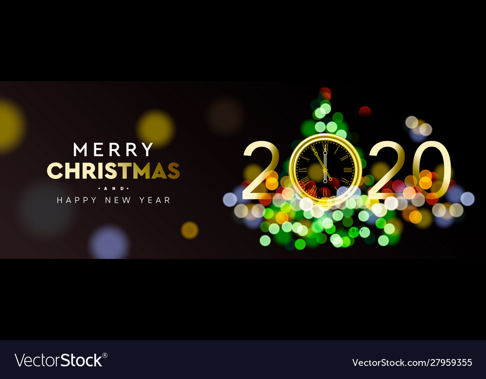Merry christmas and happy new year 2020 - shining
