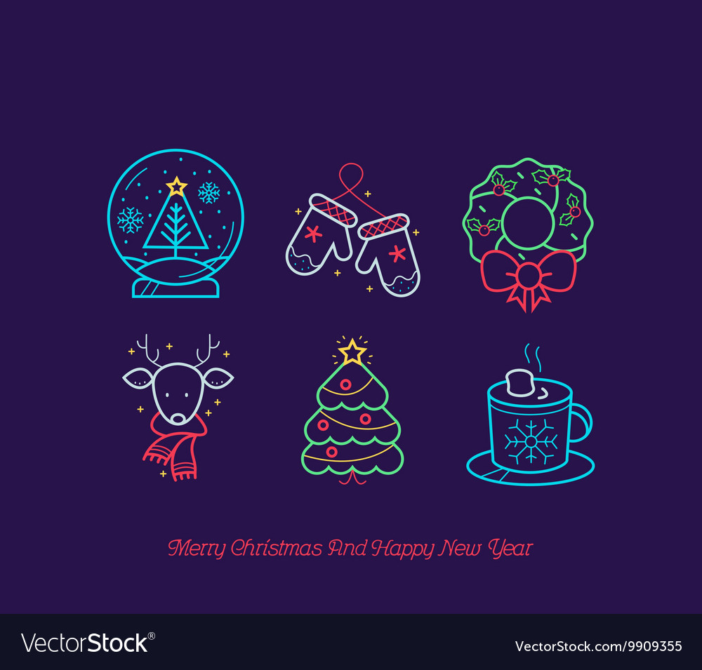 Merry Christmas Icon Set