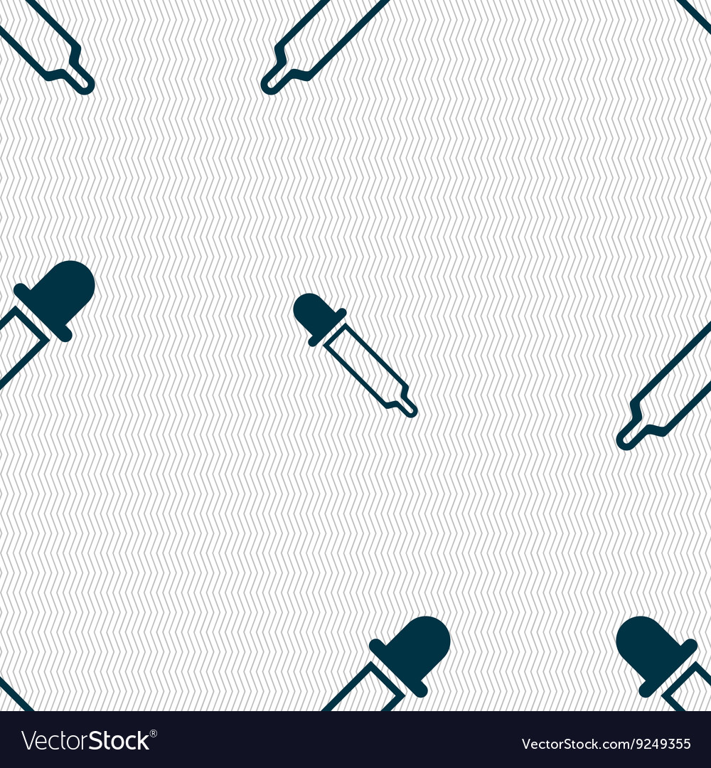 Pipette icon sign Seamless pattern with geometric