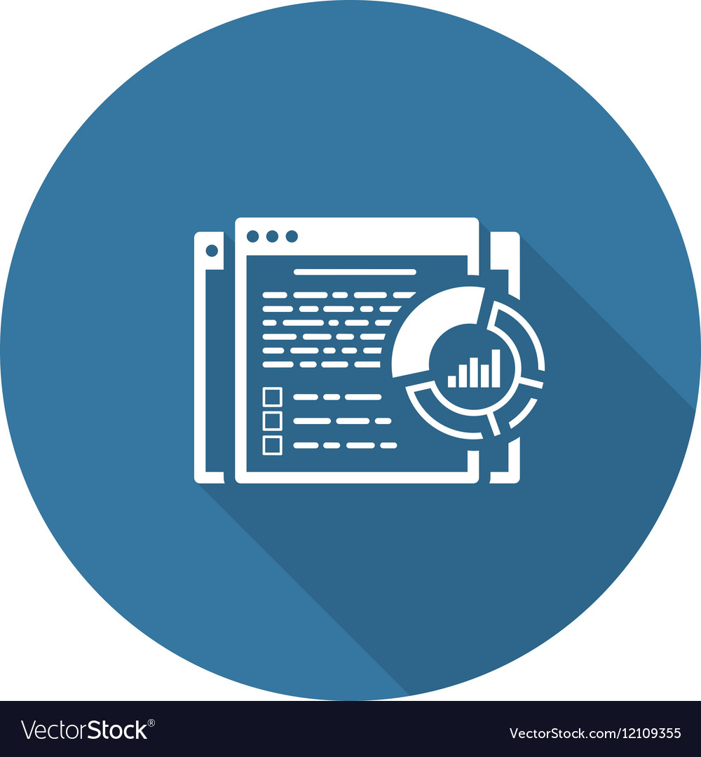 Report Icon Flat Design vector image