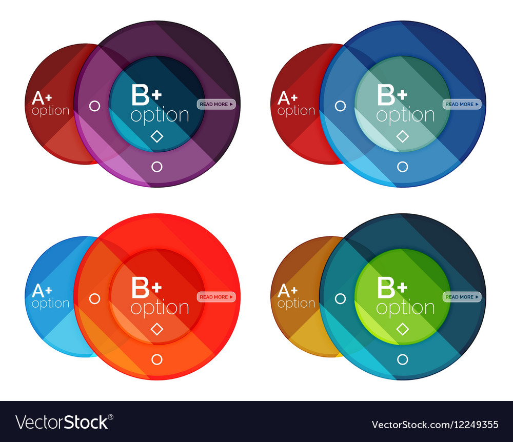 Set of round option diagram template for your data