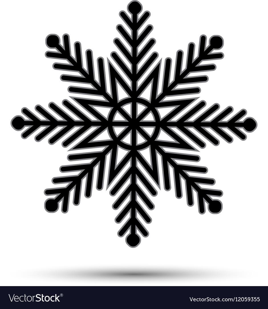 Snow icon sign design