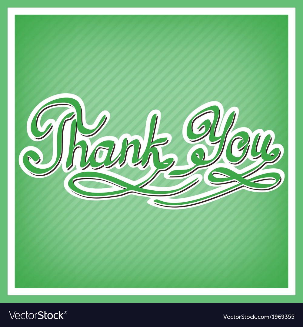 Thank you card with handwritten letters