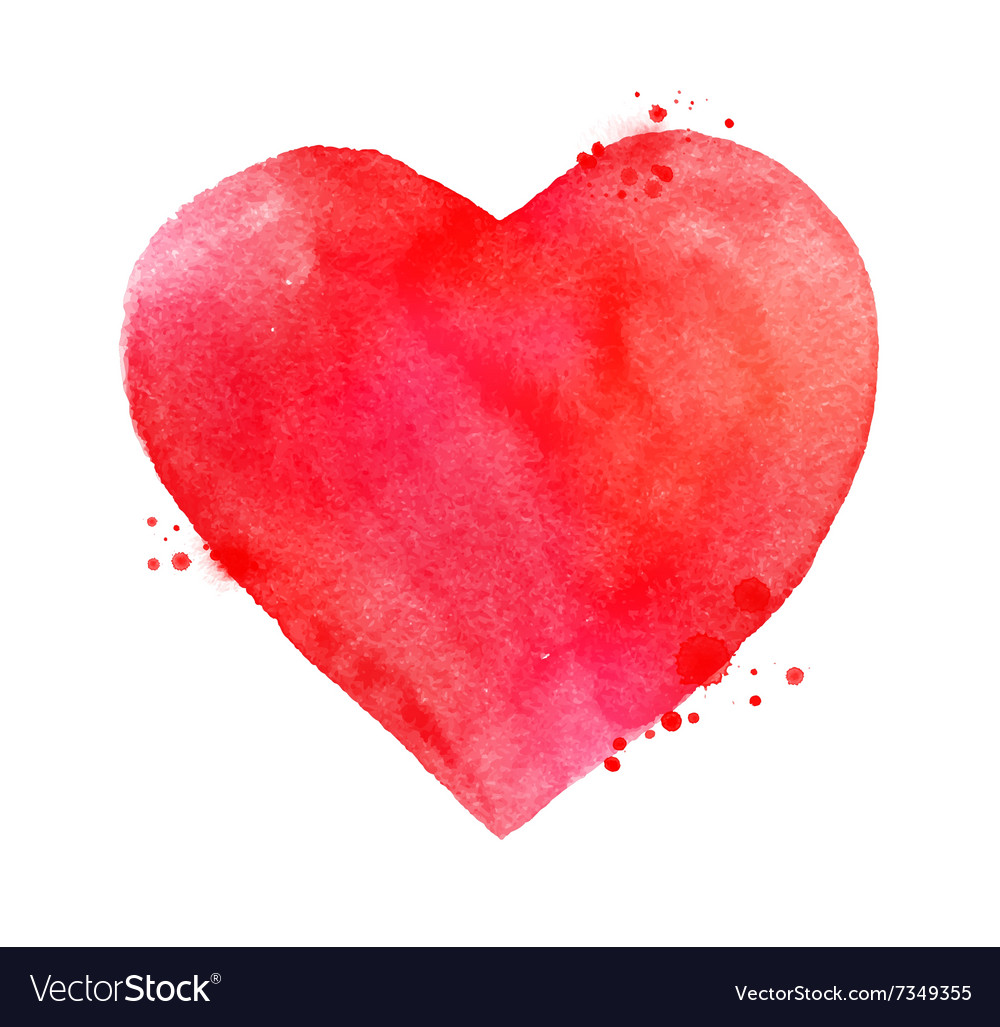Watercolor Valentine heart