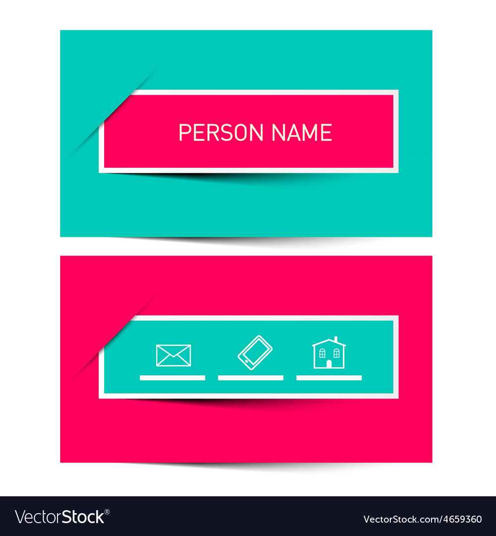 Business Card Retro Simple Layout - Template