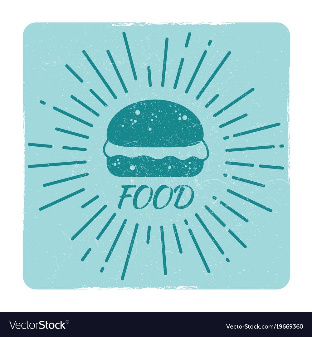Grunge food hipster badge burger