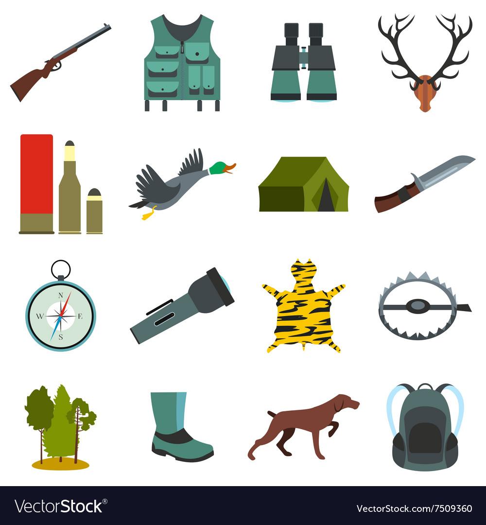 Hunting flat icons