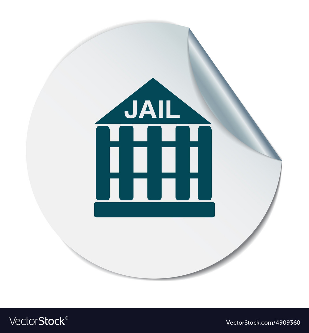 Jail prison icon symbol of justice police icon