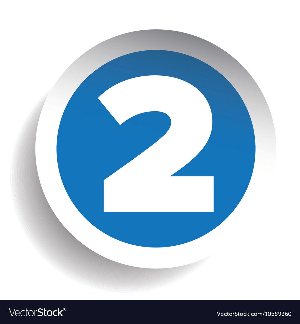 Number Two sticker blue