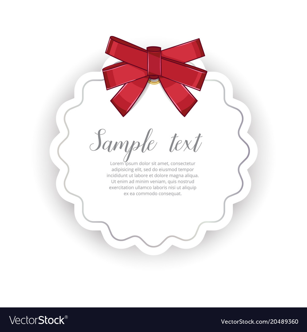 Romantic event invitation with ribbon bow
