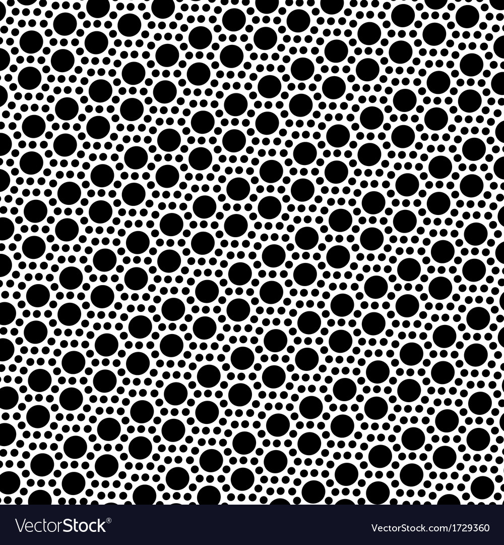 Simple black and white dot seamless pattern