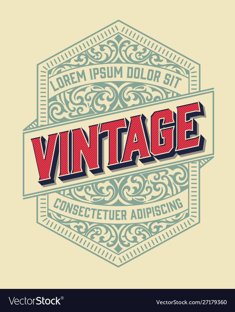 Vintage frame for logo label design