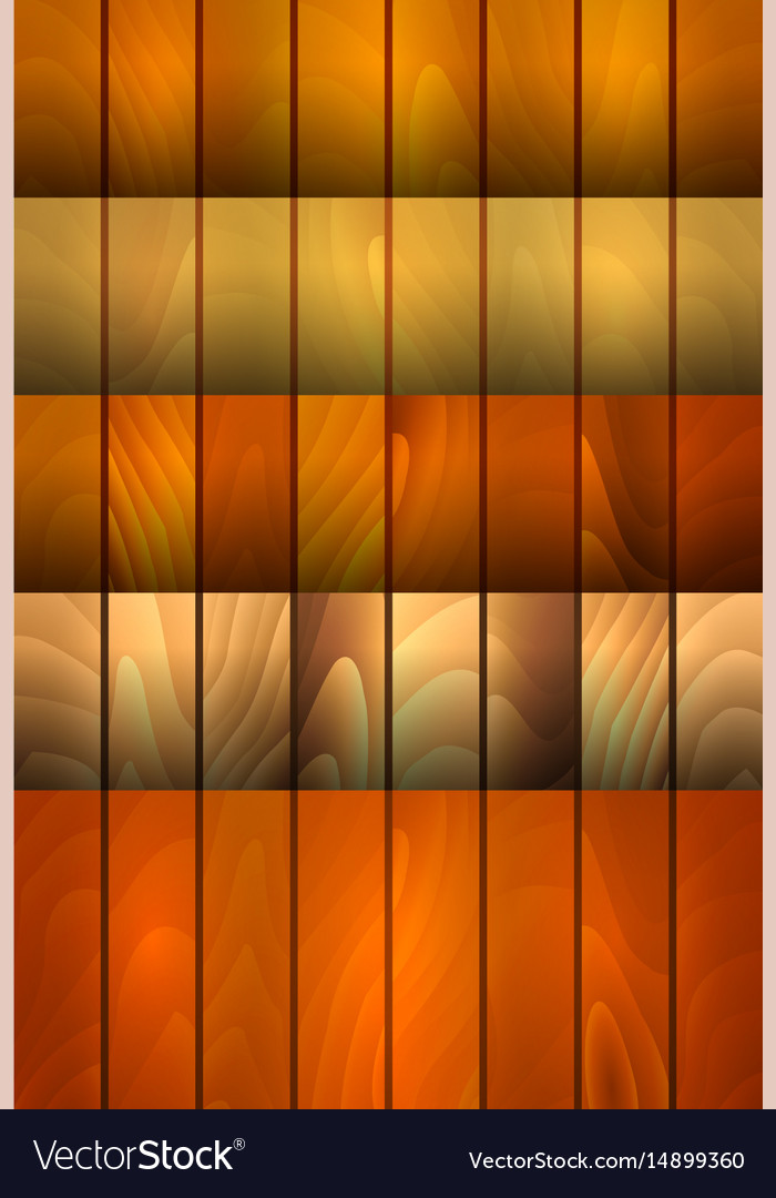 Wood background collection vector image