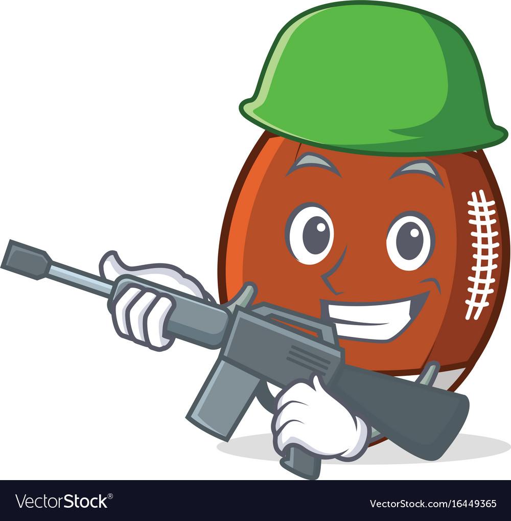 Army american football character cartoon
