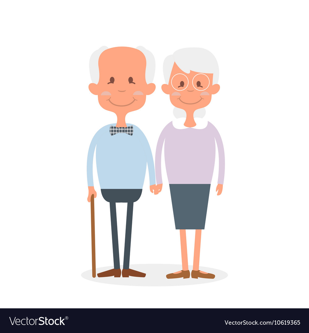 Happy old couple together Cute Seniors couple