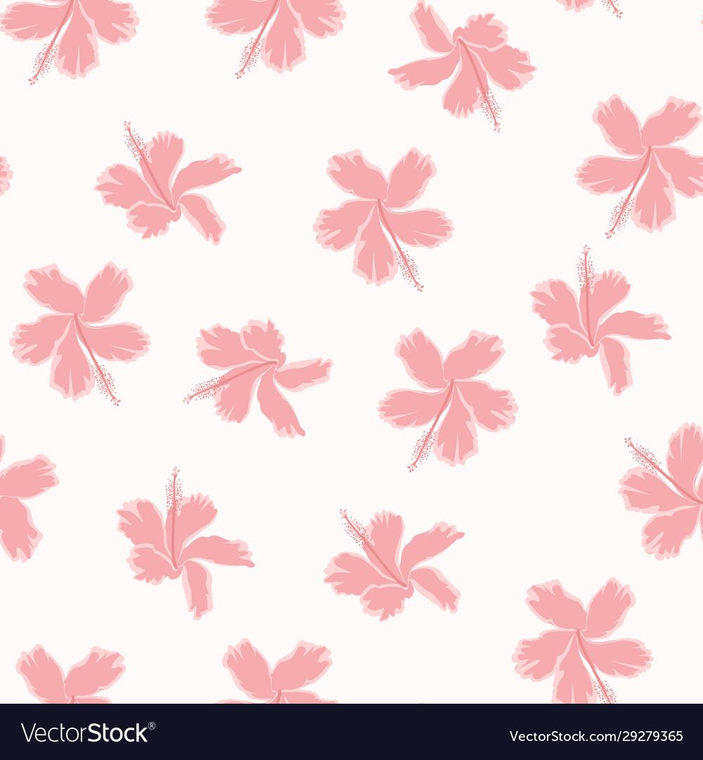 Pink angel hibiscus pattrn