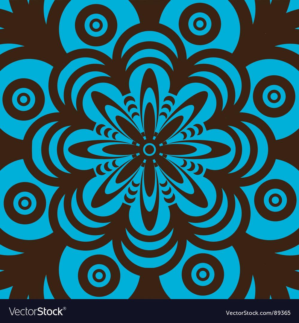 Retro Wallpaper Design Vector Image