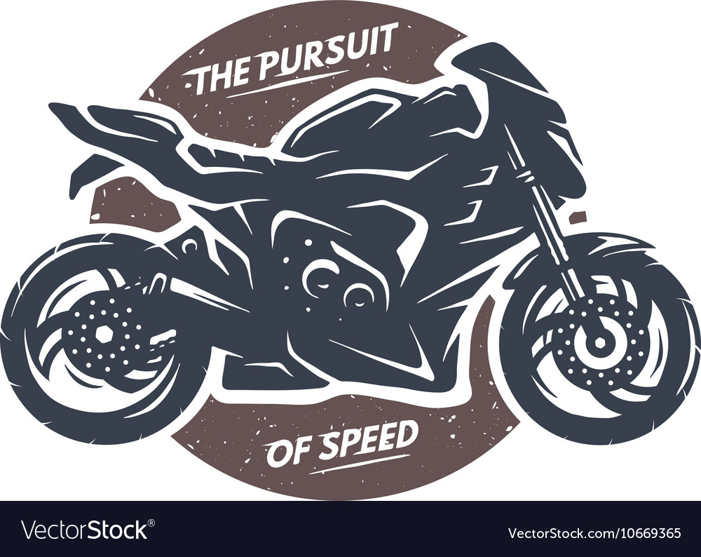 Sport Superbike Motorcycle Emblem Royalty Free Vector Image