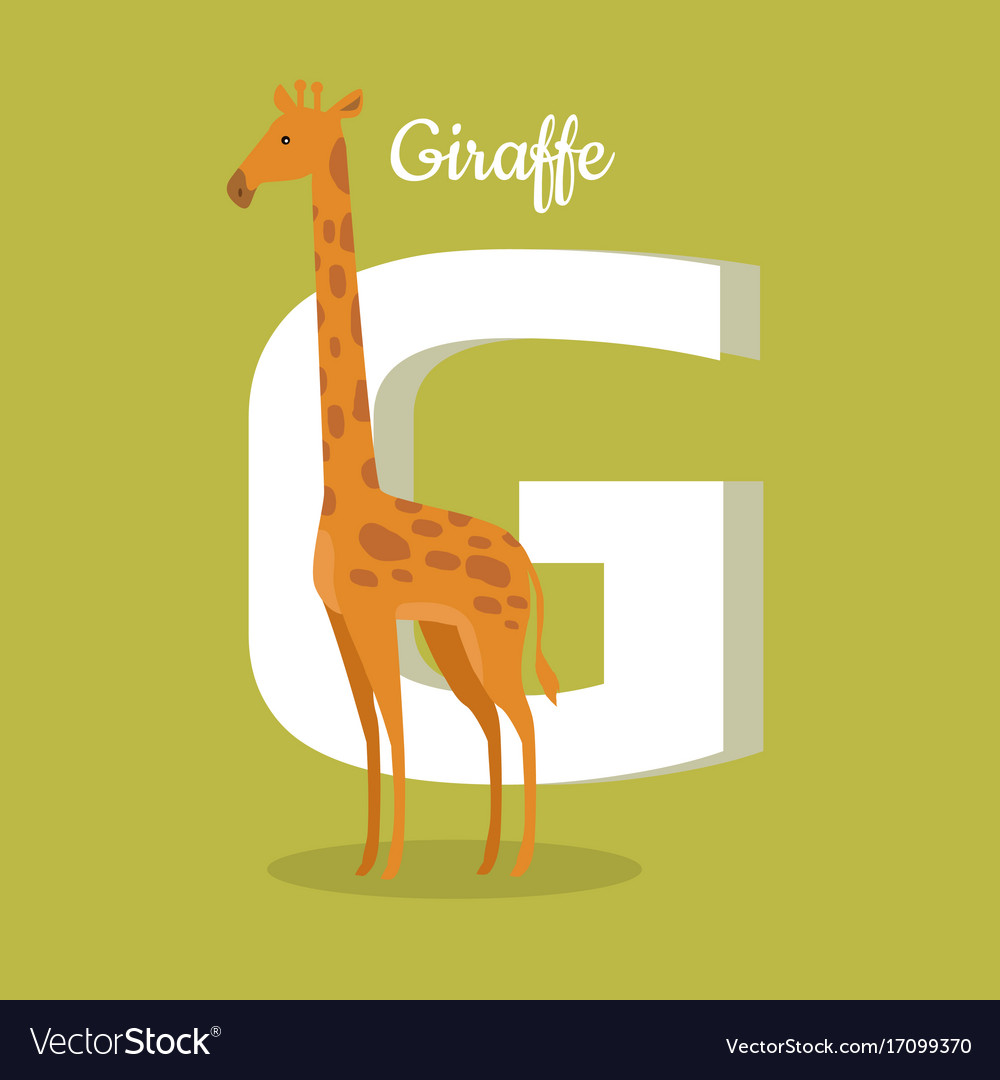 Animals alphabet letter - g