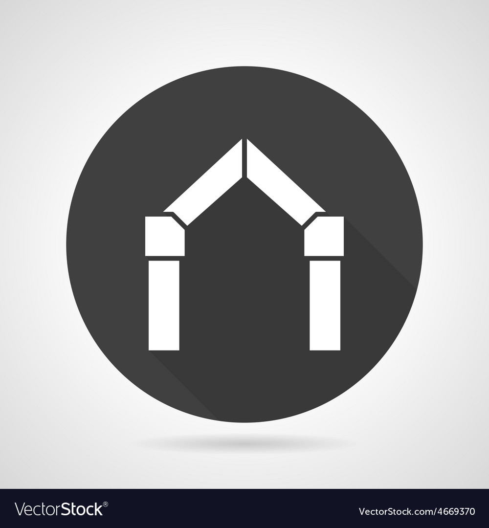 Arch gateway black round icon