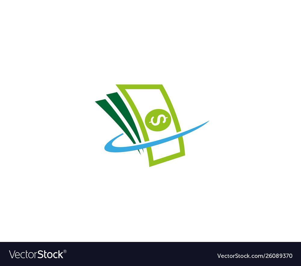 Creative Abstract Money Cash Logo Design Symbol Vector Image