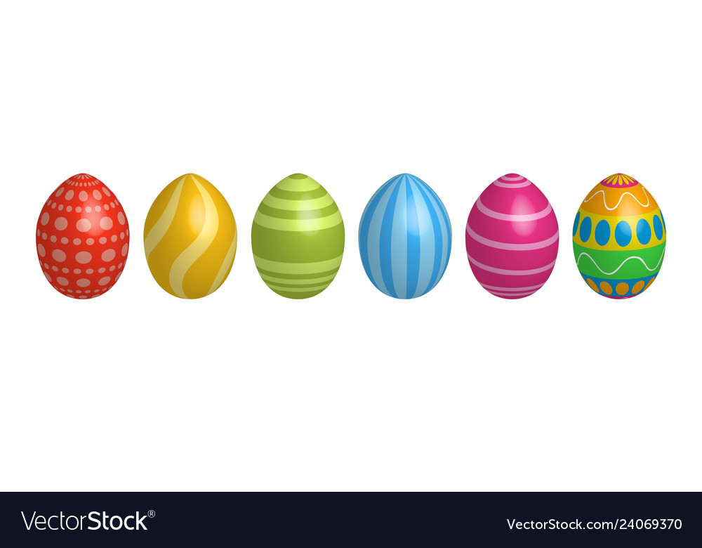 Easter egg icons geometric design texture