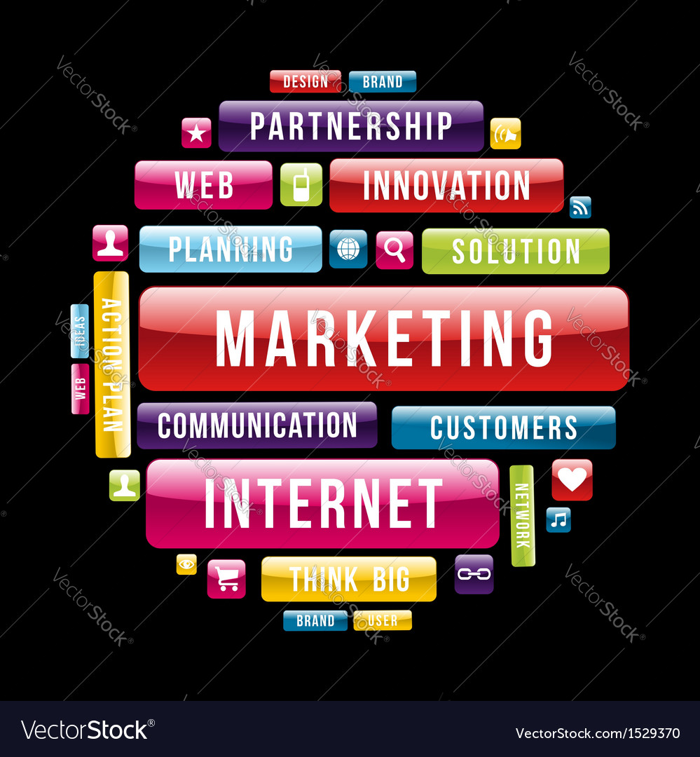 Internet Marketing concept circle
