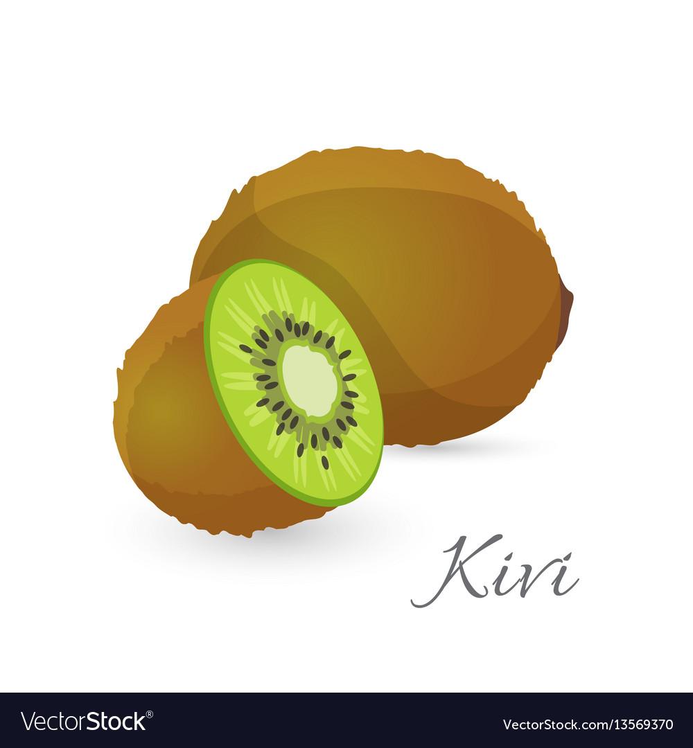 Kiwi exotic fruit whole and half kiwifruit