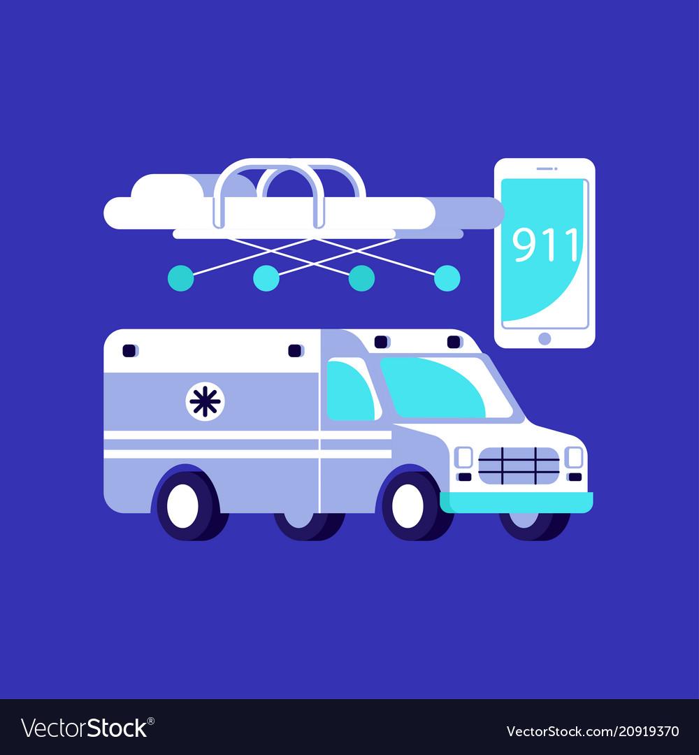 Medical ambulance icons