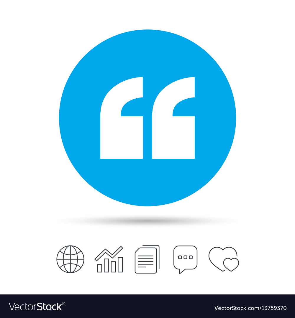 Quote Sign Icon Quotation Mark Symbol Royalty Free Vector